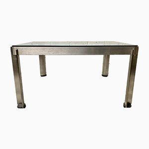 Vintage Italian Square Glass Model T113 Coffee Table by Centro Progetti for Tecno, 1970s