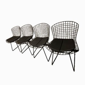 Vintage Model 420 Wire Chairs by Harry Bertoia for Knoll Inc. / Knoll International, Set of 4
