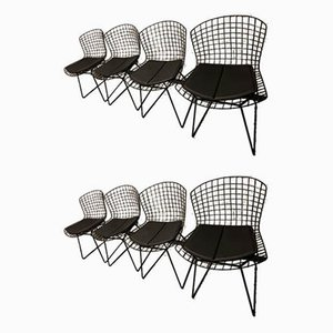 Vintage Model 420 Wire Chairs by Harry Bertoia for Knoll Inc. / Knoll International, Set of 8