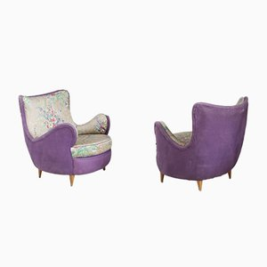 Mid-Century Lounge Chairs Attributed to Rito Valla, Set of 2