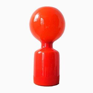 Lampada da tavolo in vetro arancione di Jean-Paul Emonds-Alt per Philips, anni '60