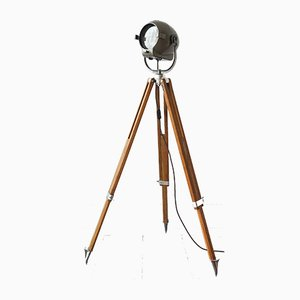 Tripod Theatre Floor Lamp from Strand and Kem Aarau, 1950s