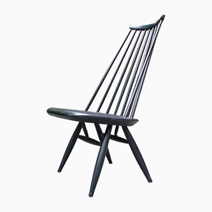 Mid-Century Black Mademoiselle Lounge Chair by Ilmari Tapiovaara for Asko
