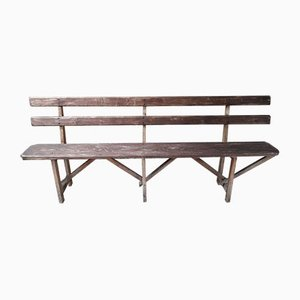 Rustic Farmhouse Bench, 1940s