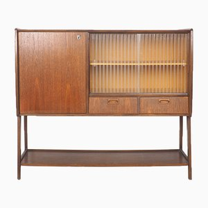 Vintage Teak and Glass Buffet, 1960s