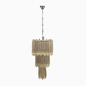Mid-Century Murano Glass Prism Chandelier by Paolo Venini , 1970s