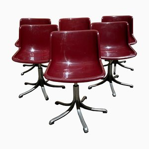 Vintage Model Modus Chairs by Osvaldo Borsani for Tecno, 1970s, Set of 6