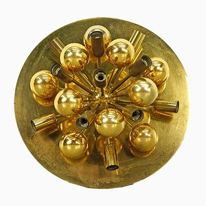 Mid-Century Sputnik Wall Light in Brass, 1960s