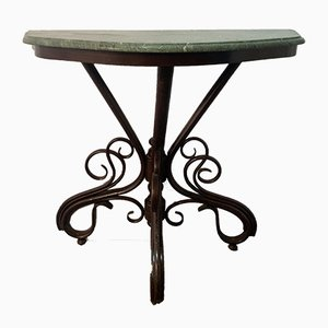 Antique Marble Top Console Table by Michael Thonet for Gebrüder Thonet Vienna GmbH