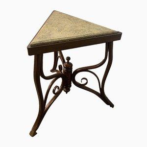 Petite Table Basse d'Angle avec Plateau Antique en Marbre par Michael Thonet pour Gebrüder Thonet Vienna GmbH