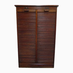 Roller Shutter Cabinet with Drawers, 1930s