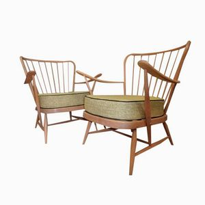 Armchairs by Lucian Ercolani for Ercol, Set of 2