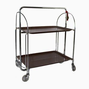 Mid-Century Folding Serving Trolley from Bremshey Solingen