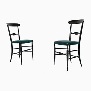 Italian Dining Chairs by Colombo Sanguineti for Sedie e Mobili Sanguineti, Chiavari, 1950s, Set of 6