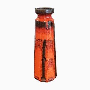 Arancione e nero Costa Decor nr. Vaso 848/1 di Ruscha, anni '70