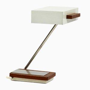 Metal and Teak Table Lamp from Kaiser Leuchten, 1960s