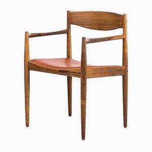 Sessel aus Palisander & Leder von HW Klein für Bramin, 1960er