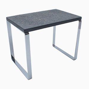 Tavolino in ardesia e metallo cromato di Draenert, Germania, anni '60
