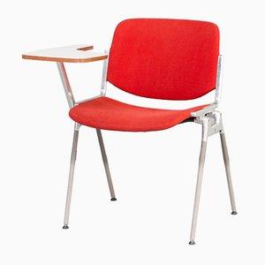 Stuhl mit Schreibplatte von Giancarlo Piretti für Castelli / Anonima Castelli, 1960er