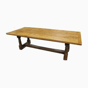 Long Golden Oak Refectory Table, 1940s