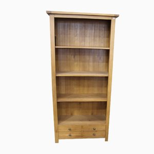 Oak Open Bookshelves with Drawers at Base, 1960s