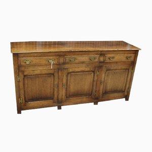 Oak 3-Drawer Dresser Base, 1960s