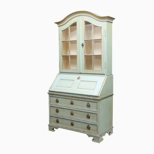 Antique Secretaire with Display Case in Pastel