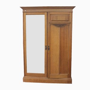 Oak Mirrored Wardrobe from Maple & Co, 1920s