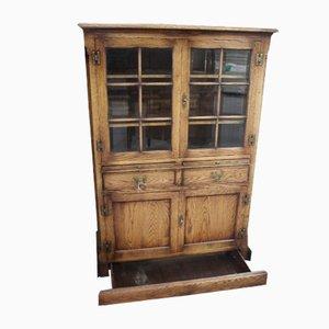 Ipswich Oak Style Display Cabinet, 1960s