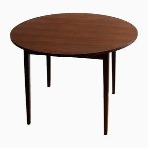 Vintage Round Teak Dining Table, 1960s