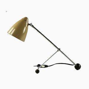 Dreifuß Dreibein Tischlampe von H. Busquet für Hala, 1950er