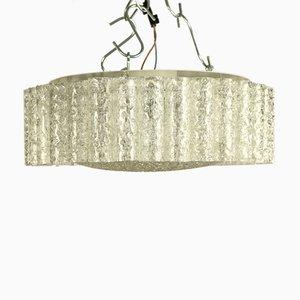 Vintage Deckenlampe Kronleuchter aus Glasröhren von Doria Leuchten, 1960er