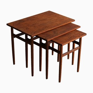 Vintage Teak Nesting Tables, 1960s