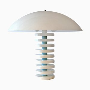 Vintage Postmodern White Table Lamp Aladdin by Harco Loor