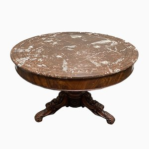 Antique French Marble Top Gueridon Centre Table