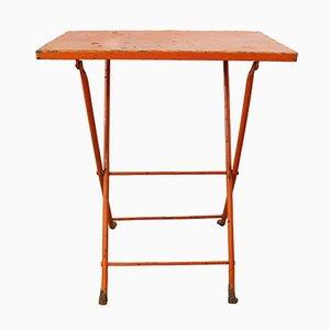 Mesa de jardín plegable francesa vintage de metal, años 60