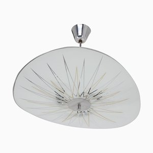 Mid-Century Glass Pendant Lamp from Inva Litoměřice, 1970s