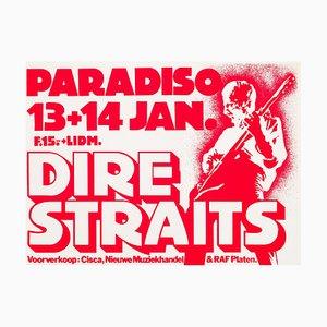 Poster dei Dire Straits di Martin Kaye, 1981
