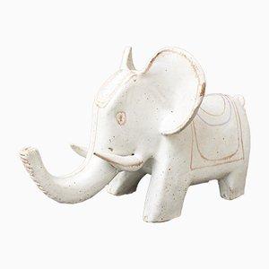 Italian Ceramic Elephant Sculpture by Bruno Gambone, 1970s