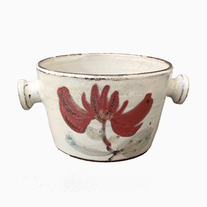 Small Ceramic Crockery Pot by Gustave Reynaud for Le Mûrier, 1950s