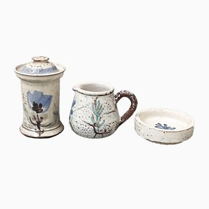 Französische Keramikteile von Gustave Reynaud für Le Mûrier, 1950er, 3er Set