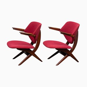 Teak Lounge Chairs by Louis van Teeffelen for WéBé, 1950s, Set of 2