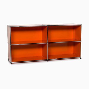 Orange Metal Sideboard from USM Haller