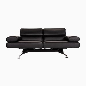 Black Leather DS 470 2-Seat Sofa with Relax Function by Thomas Althaus for de Sede