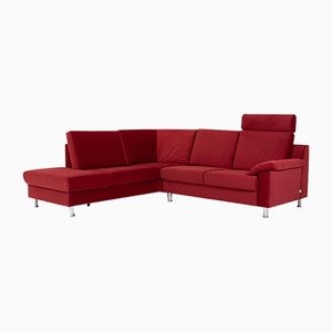 Red Microfiber Fabric Corner Sofa from Ewald Schillig
