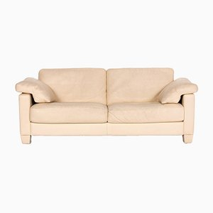 Cream Leather DS 17 3-Seat Sofa from de Sede