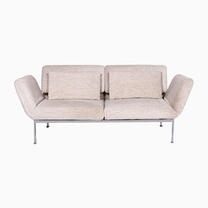 Roro Cream Leather Sofa-Bed Function from Brühl & Sippold