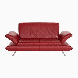 Red Leather Rossini 2-Seat Function Sofa from Koinor