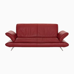 Red Leather Rossini 3-Seat Function Sofa from Koinor