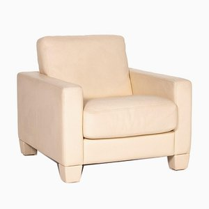 Cream Leather DS 17 Armchair from de Sede